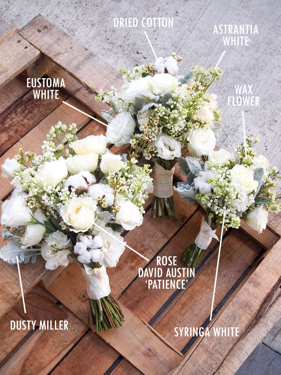 White Wedding Flowers Names And Pictures : The wedding scoop
